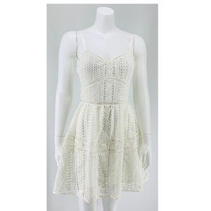 NEW Lovers+Friends White Mini Dress Small D74
